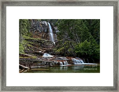 Virginia Falls In The Pool Framed Print by Adam Jewell