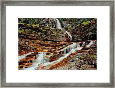 Virginia Falls Landscape Framed Print by Adam Jewell