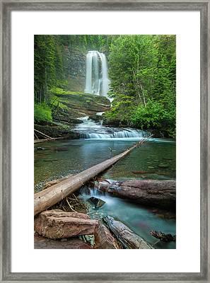Virginia Falls Of Glacier National Park Framed Print by Thomas Schoeller