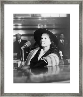 Virginia Hill, Girlfriend Of Las Vegas Framed Print by Everett