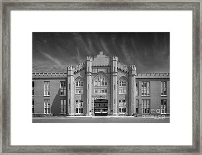 Virginia Military Institute Old Barracks Framed Print by University Icons