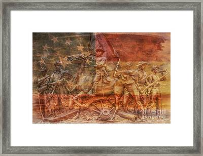 Virginia Monument At Gettysburg Battlefield Framed Print by Randy Steele