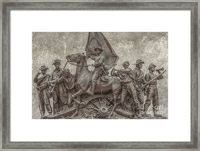 Virginia Monument Gettysburg Battlefield Framed Print by Randy Steele