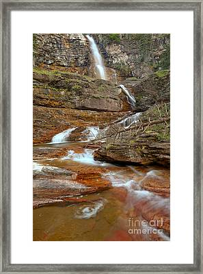 Virginia Red Rock Falls Framed Print by Adam Jewell