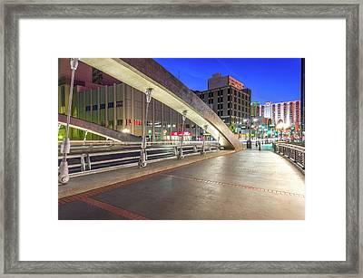 Virginia Street Bridge Reno Nevada Framed Print by Scott McGuire