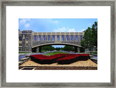 Virginia Tech - Torgersen Bridge Framed Print by Andrew Webb