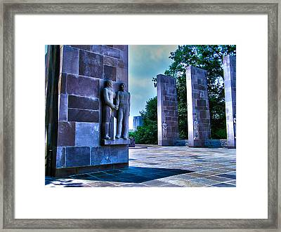 Virginia Tech - War Memorial Framed Print by Andrew Webb