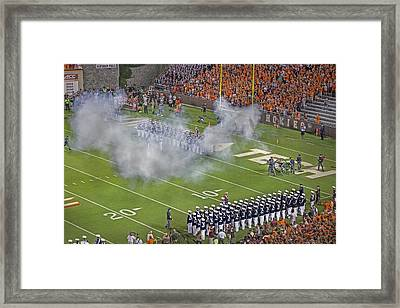 Virginia Tech Ceremonial Cannon Skipper Framed Print by Betsy Knapp