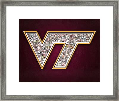 Virginia Tech Football Framed Print by Fairchild Art Studio