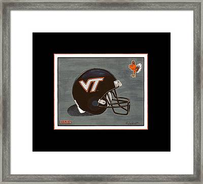 Virginia Tech T-shirt Framed Print