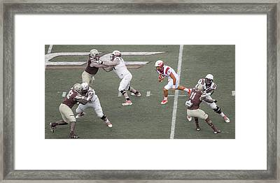 Virginia Tech Hokies Football Framed Print by Betsy Knapp