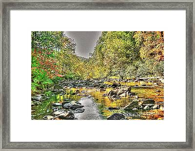 Virginia Va Art - Dunlap Creek - Covington Va Virginia Framed Print