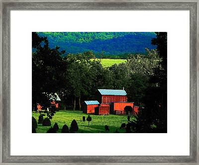 Virginia Valley View Framed Print by Joyce Kimble Smith
