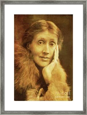 Virginia Woolf, Literary Legend By Mary Bassett Framed Print