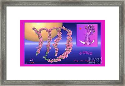 Framed Print featuring the digital art Virgo by The Art of Alice Terrill