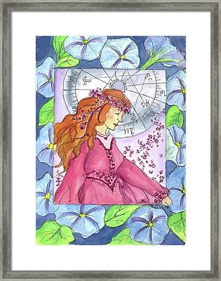 Framed Print featuring the painting Virgo by Cathie Richardson