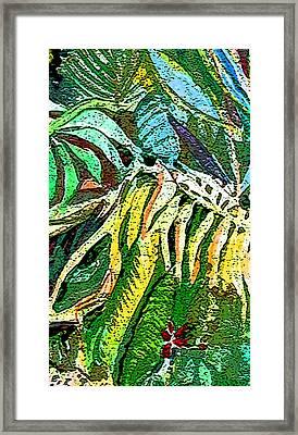 Viridian Framed Print by Mindy Newman