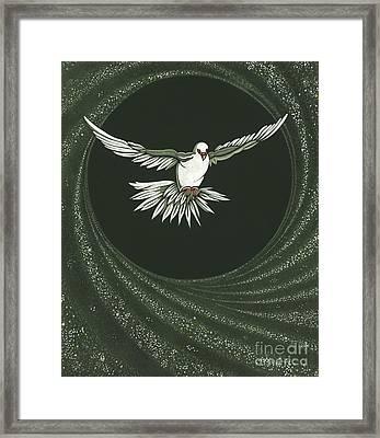Viriditas-holy Spirit Detail Framed Print by William Hart McNichols
