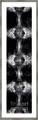 Framed Print featuring the drawing Virtical Abstraction by Jack Dillhunt