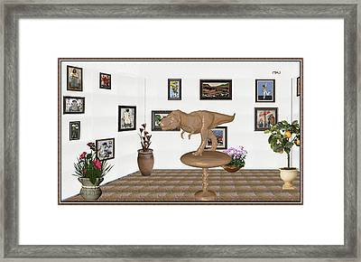 Virtual Exhibition _ Dinosaur Rex Framed Print