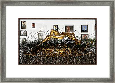 Virtual Exhibition With Birthday Cake Framed Print