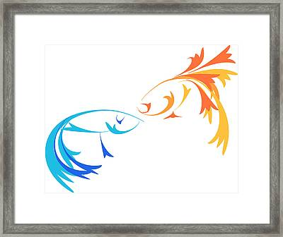 Virtual Fight Framed Print by Oiyee At Oystudio