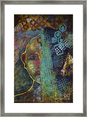 Virtual Portrait Framed Print by Vipula Saxena