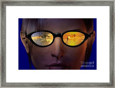 Virtual Reality Framed Print by Carol and Mike Werner