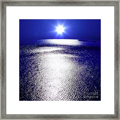 Virtual Sea Framed Print by Tatsuya Atarashi