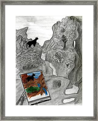 Virtual World Framed Print by Mitchell McClosky
