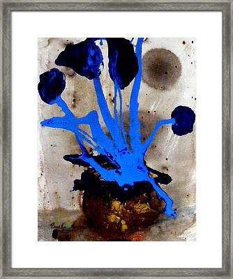 Virtually Blue Framed Print
