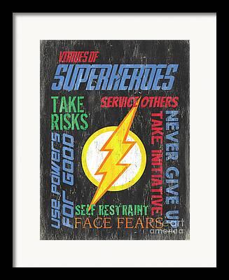 Superman Drawings Framed Prints