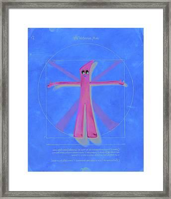 Virtuvian Man Framed Print