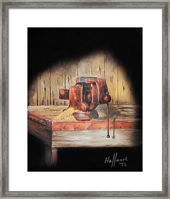 Vise Framed Print by Bob Hallmark