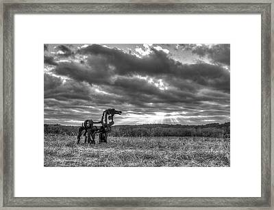 Visible Lights The Iron Horse Sunrise Art Framed Print