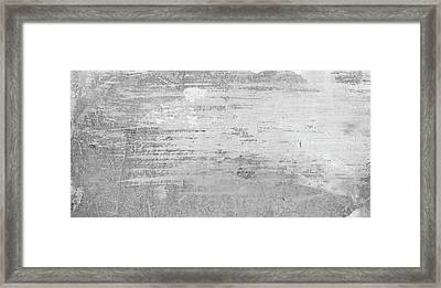 Visible Traces - Bright Black And White Abstract Painting Framed Print by Modern Art Prints