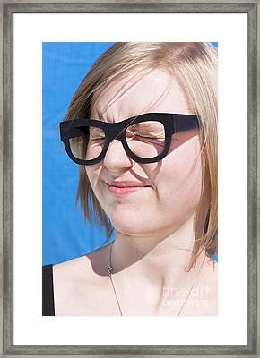Vision Impaired Woman Framed Print