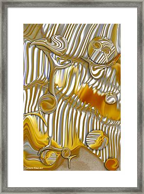 Framed Print featuring the digital art Vision Of Commercial Meditation by Carmen Fine Art