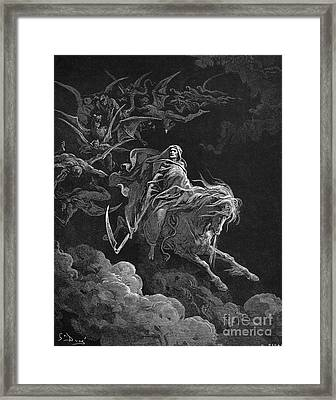 Vision Of Death Framed Print by Granger