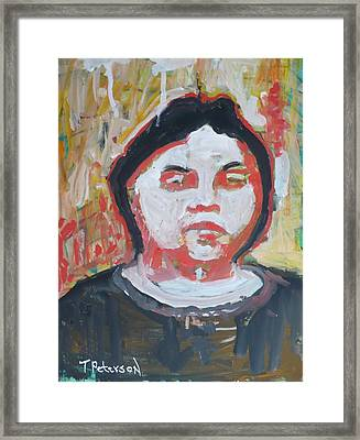 Vision Of Johanna Framed Print by Todd  Peterson