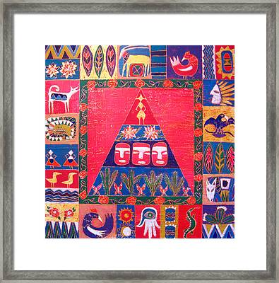 Vision Of Mexico Framed Print by Aliza Souleyeva-Alexander