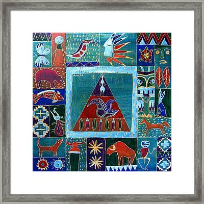 Vision Of Native North America Framed Print by Aliza Souleyeva-Alexander