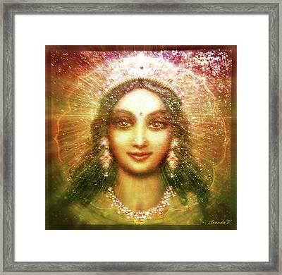 Vision Of The Goddess  Framed Print by Ananda Vdovic