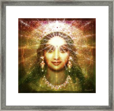 Vision Of The Goddess - Light Framed Print