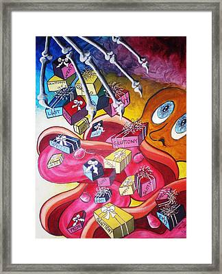 Vision Of Vices Framed Print by Tammera Malicki-Wong