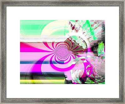 Framed Print featuring the digital art Vision Realized by Fania Simon