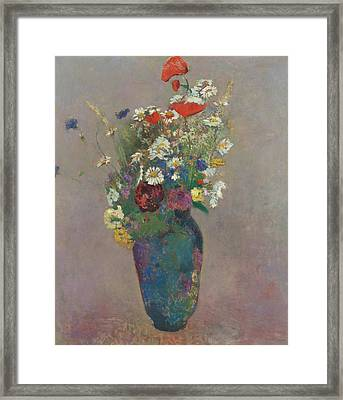 Vision Vase Of Flowers  Framed Print by Odilon Redon