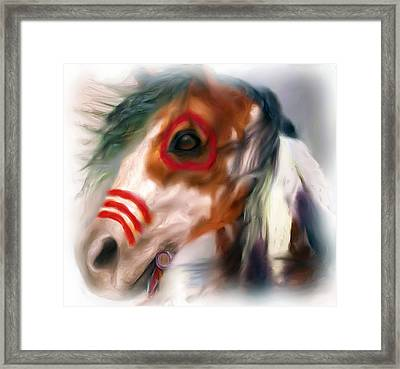 Visionary War Horse Framed Print