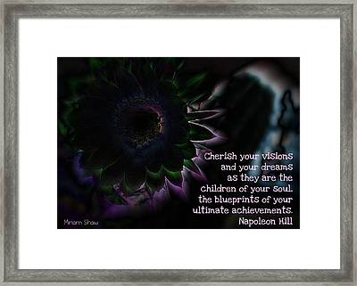 Visions Framed Print by Miriam Shaw
