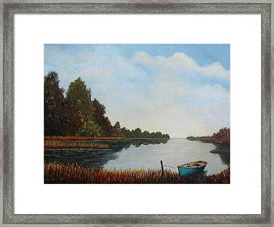 Visions Of Bras D Or Framed Print by Sharon Steinhaus
